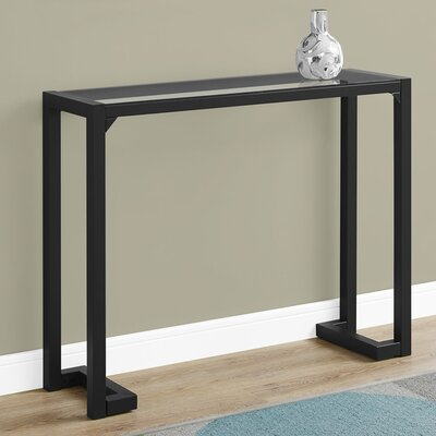 Tempered Glass Hall Console Table Finish: Black