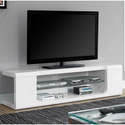 Modern TV Stand Finish: White