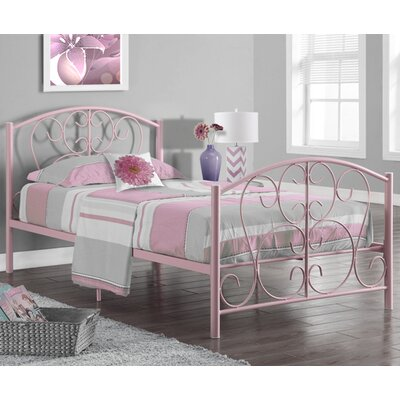 Twin Panel Bed Finish: Pink