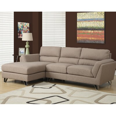 Sectional Upholstery: Light Brown