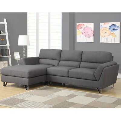 Sectional Upholstery: Charcoal Grey