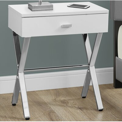 1 Drawer Nightstand Finish: White