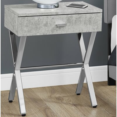 1 Drawer Nightstand Color: Cement