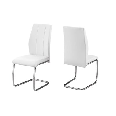 Damiane Upholstered Dining Chair Upholstery Color: White