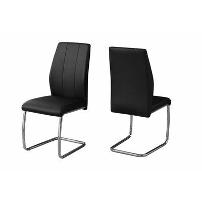 Damiane Upholstered Dining Chair Upholstery Color: Black