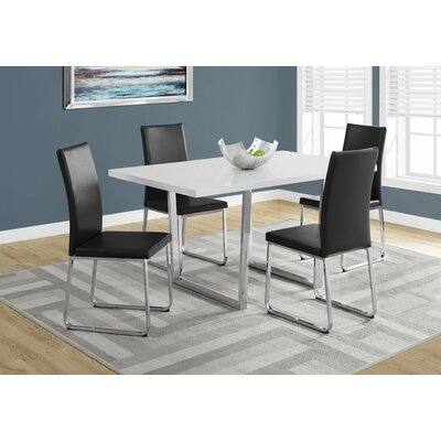 Dacian Metal Dining Table Top Finish: White Glossy