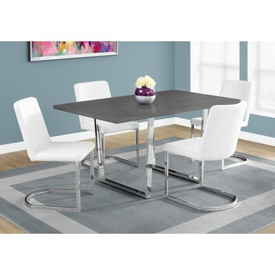 Dacian Metal Dining Table Top Finish: Gray