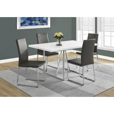 Damiana Metal Dining Table Top Finish: White