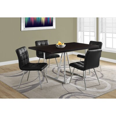 Damiana Metal Dining Table Top Finish: Cappuccino