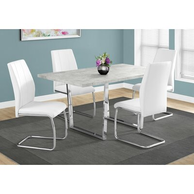 Dacian Metal Dining Table Top Finish: Gray Cement