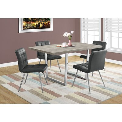 Dacian Metal Dining Table Top Finish: Dark Taupe