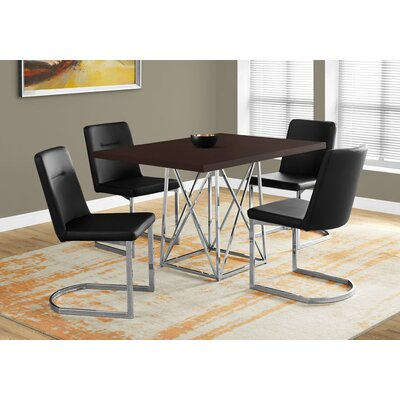 Damia Metal Dining Table Top Finish: Cappuccino