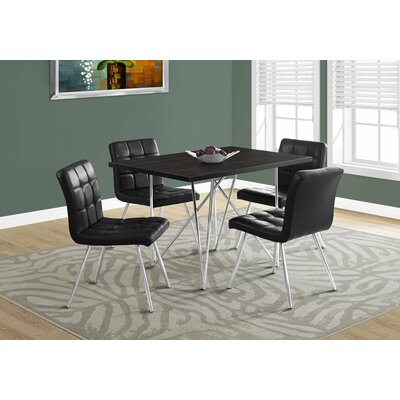 Haynes Metal Dining Table Top Finish: Cappuccino