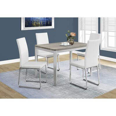 Daisi Metal Dining Table Top Finish: Dark Taupe