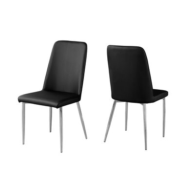 Cordie Upholstered Dining Chair Upholstery Color: Black