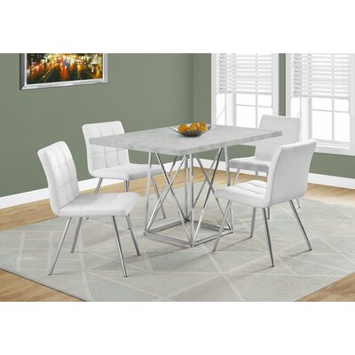 Damia Metal Dining Table Top Finish: Gray Cement