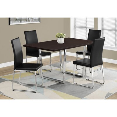 Dacian Metal Dining Table Top Finish: Cappuccino