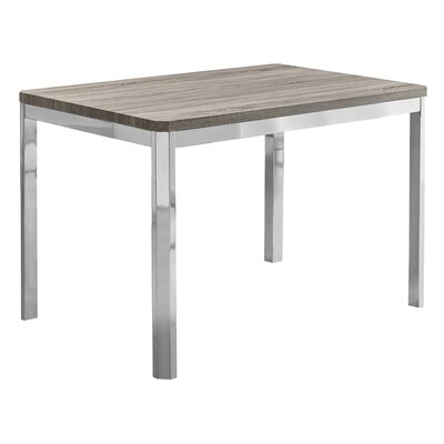 Cyrano Metal Dining Table Top Finish: Dark Taupe