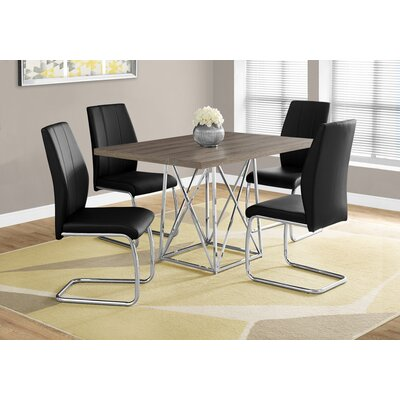 Damia Metal Dining Table Top Finish: Dark Taupe