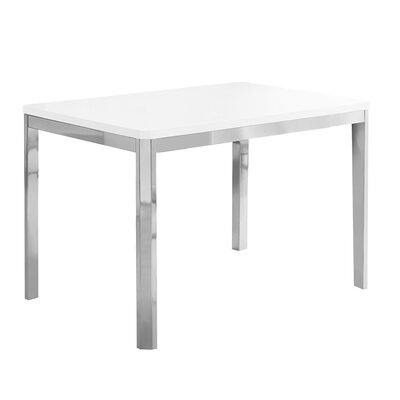 Cyrano Metal Dining Table Top Finish: White