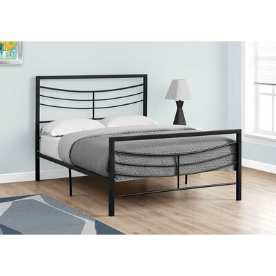 Haney Slat Bed Size: Full, Color: Black