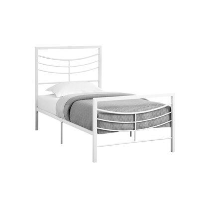 Fisher Twin Slat Bed Bed Frame Color: White