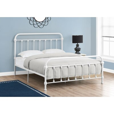 Laplante Slat Bed Size: Queen, Color: White