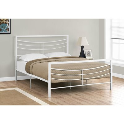 Haney Slat Bed Size: Queen, Color: White