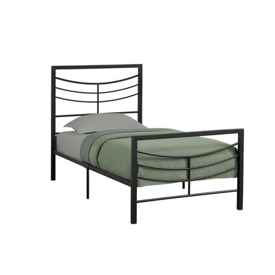 Fisher Twin Slat Bed Bed Frame Finish: Black