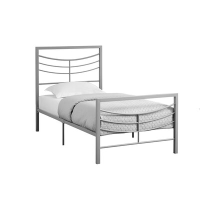Fisher Twin Slat Bed Bed Frame Finish: Silver
