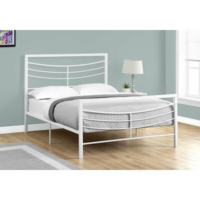 Haney Slat Bed Size: Full, Finish: White