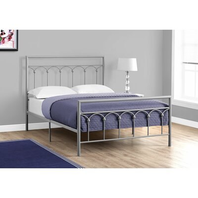 Larch Lane Slat Bed Size: Full, Color: Silver