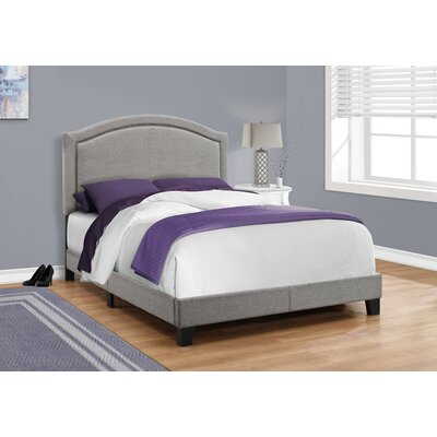 Towcester Panel Bed Size: Full, Color: Gray
