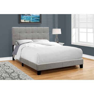 Rollins Upholstered Panel Bed Size: Full, Upholstery: Gray
