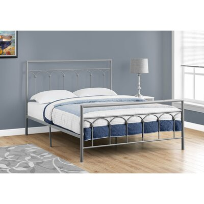 Larch Lane Slat Bed Size: Queen, Color: Silver