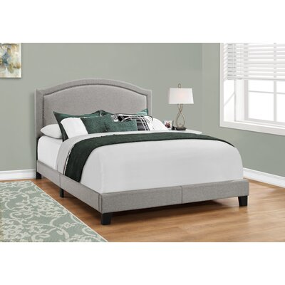 Towcester Panel Bed Upholstery: Gray, Size: Queen