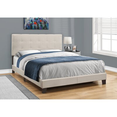 Rollins Upholstered Panel Bed Size: Queen, Upholstery: Beige