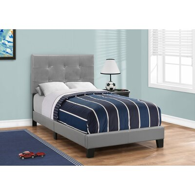 Larocca Upholstered Panel Bed Size: Twin, Upholstery: Gray