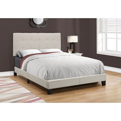 Rollins Upholstered Panel Bed Size: Full, Upholstery: Beige