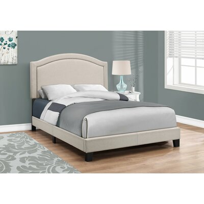 Towcester Panel Bed Size: Full, Upholstery: Beige