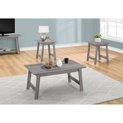 Kona 3 Piece Coffee Table Set Color: Gray