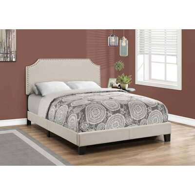 Larochelle Upholstered Panel Bed Size: Full, Color: Beige