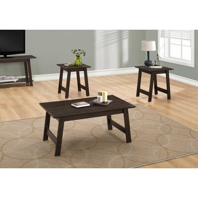 Kona 3 Piece Coffee Table Set Color: Cappuccino