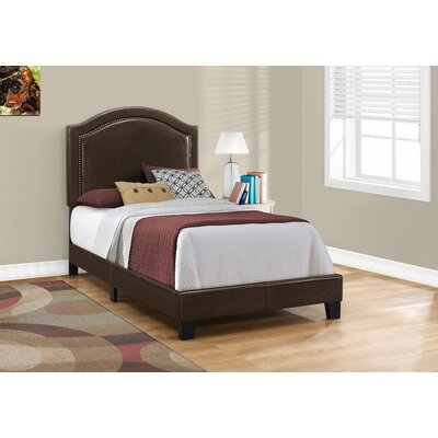 Larose Upholstered Panel Bed Size: Twin, Color: Brown