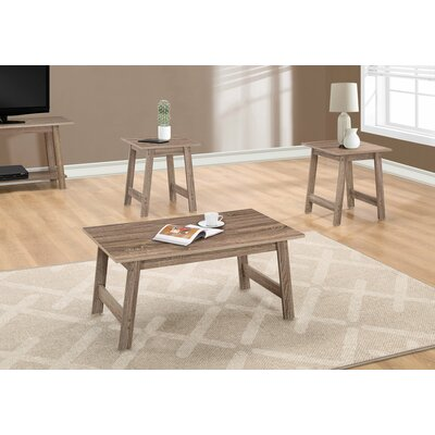 Kona 3 Piece Coffee Table Set Finish: Dark Taupe
