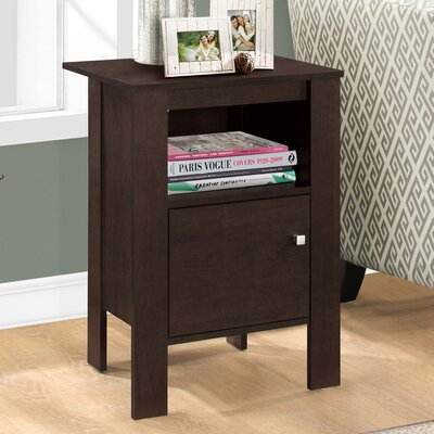 Alexandra Nightstand with Storage Finish: Cappuccino