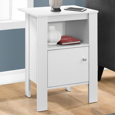 Alexandra Nightstand with Storage Finish: White