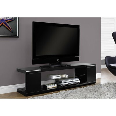 Modern 59 TV Stand Color: Black