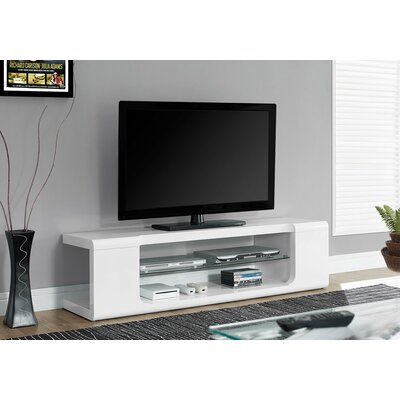 Modern 59 TV Stand Color: White