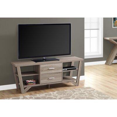Montezuma 60 TV Stand Color: Dark Taupe